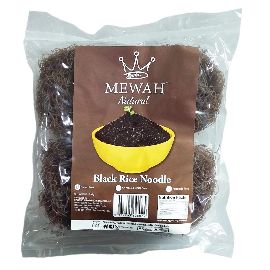 Mewah Natural Black Rice Noodle 200g