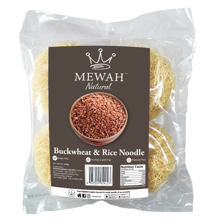 Mewah Natural Buckwheat & Rice Noodle 200g