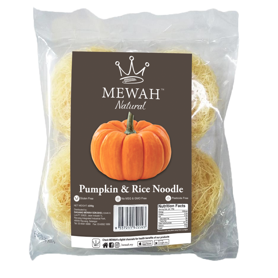 Mewah Natural Pumpkin & Rice Noodle 200g