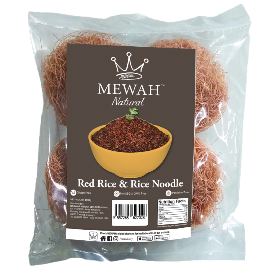 Mewah Natural Red Rice Noodle 200g