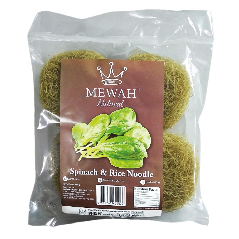 Mewah Natural Spinach & Rice Noodle 200g